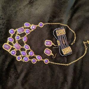 Costume purple jewelry